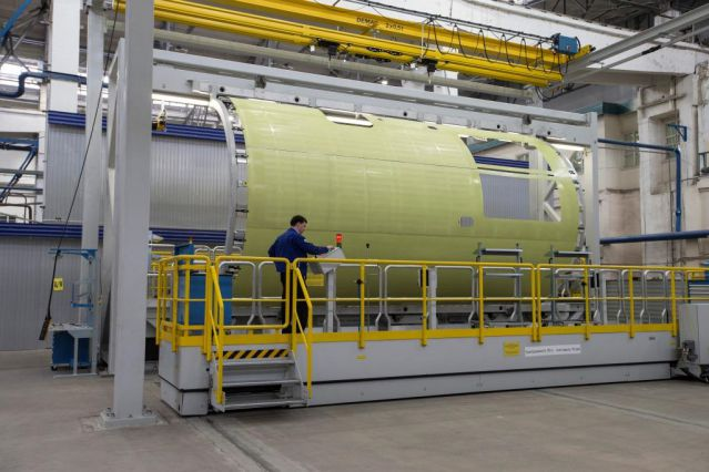 Primer MC-21 components at the new assembly line of Irkutsk aviation plant