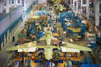 Su-30SM large units assembly shop