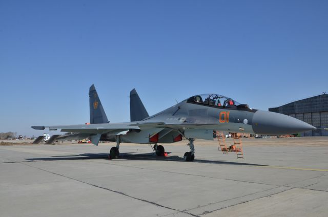 Su-30SM multirole fighter delivered to the Kazakstan Air Force
