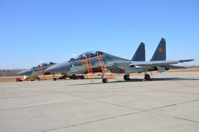 The first batch of Su-30SM multirole fighters delivered to the Kazakstan Air Force