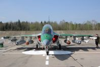 Yak-130 of Belarus AF with combat load