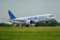 The flight of the second MC-21-300 test aircraft from Irkutsk to Zhukovsky