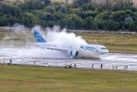 MC-21-300 aircraft water tests