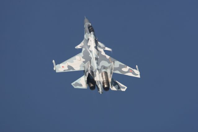 Su-30MKI multirole fighter of the Indian Air Force