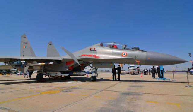 BrahMos equipped Su-30MKI multirole fighter of the Indian Air Force