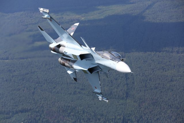 Su-30SM multirole fighter of Russian AF